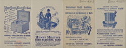 Advert for Henry Heath, hat makers